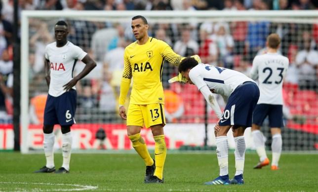 Soccer Football - FA Cup Semi-Final - Manchester United v Tottenham Hotspur - Wembley Stadium, London, Britain - April 21, 2018 Tottenham's Michel Vorm and Dele Alli after the match REUTERS/David Klein