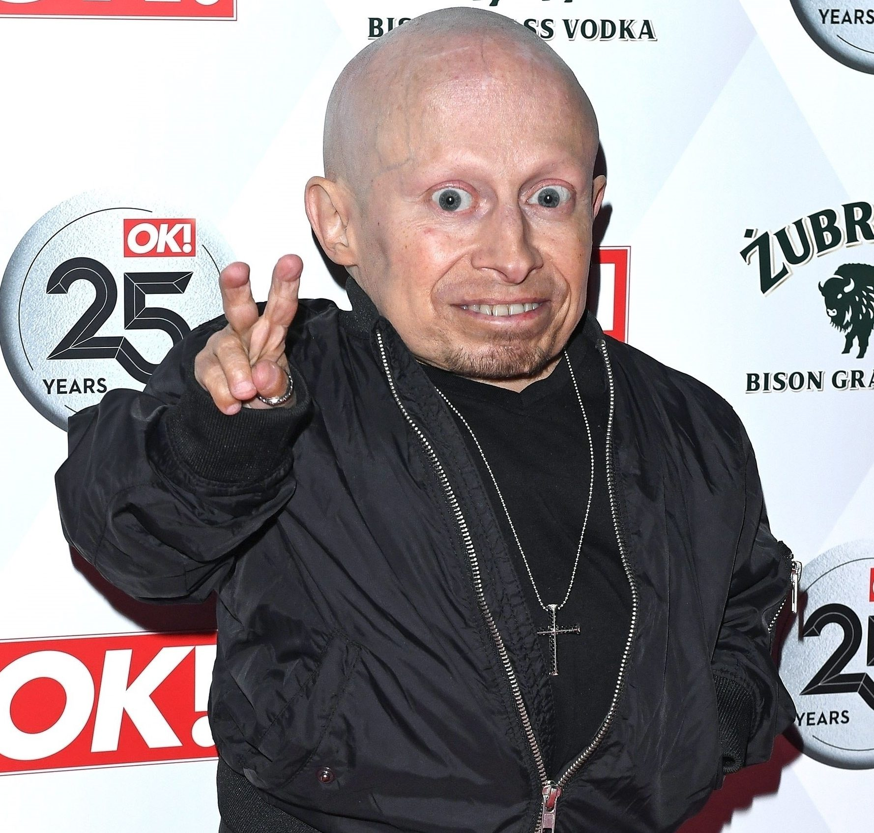 Verne Troyer smiling during last appearance before death