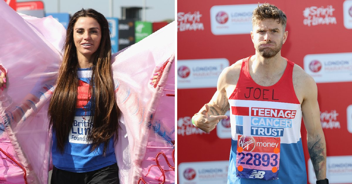Katie Price and Joel Dommett among celebs preparing for London Marathon 2018