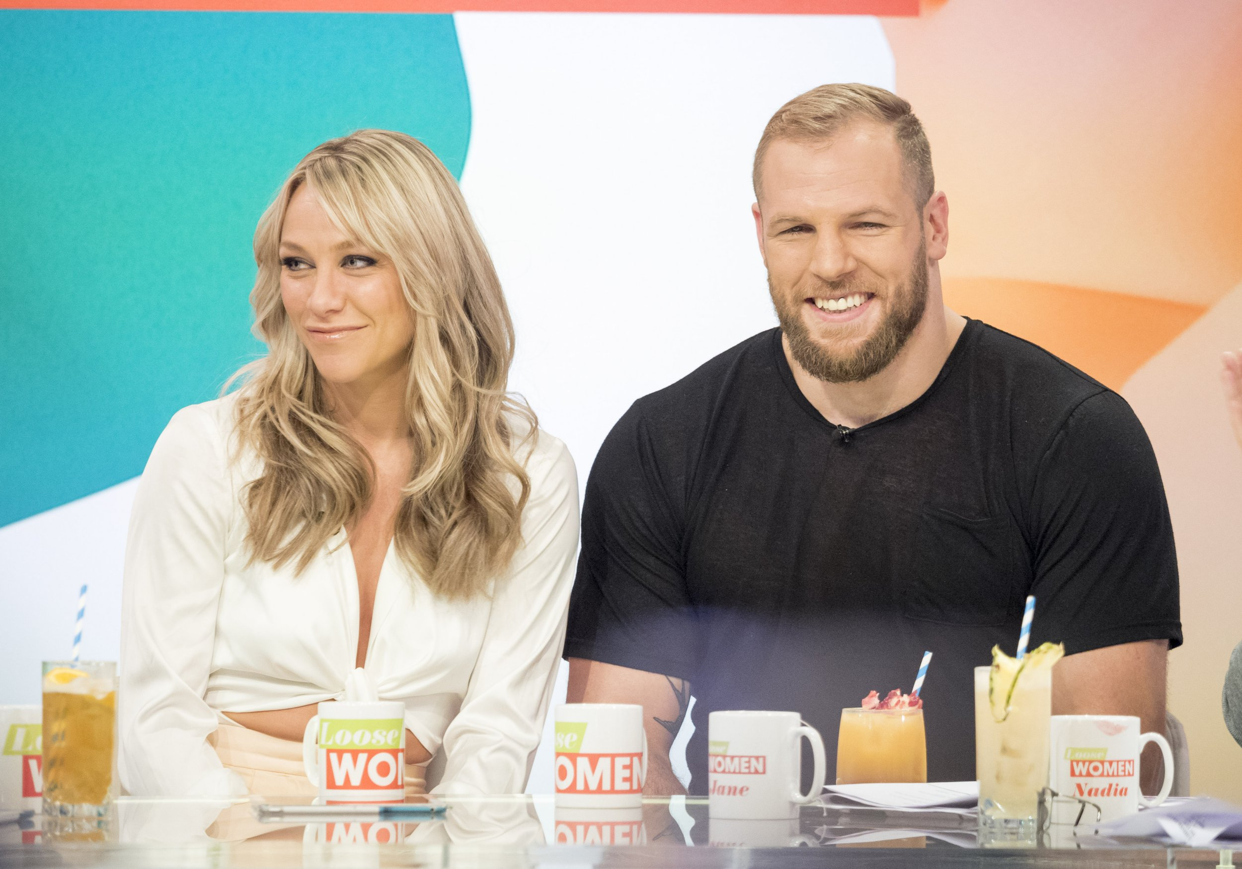 EDITORIAL USE ONLY. NO MERCHANDISING Mandatory Credit: Photo by Ken McKay/ITV/REX/Shutterstock (9325227bi) Chloe Madeley and James Haskell 'Loose Women' TV show, London, UK - 18 Jan 2018 Chloe Madeley and James Haskell These two are the definition of a power couple! Chloe is the daughter of daytime TV royalty Richard and Judy, whose carved out a successful career in her own right as a fitness guru. And James is an elite athlete with an impressive international rugby career. Today the couple are joining the panel to discuss their new health and fitness books.