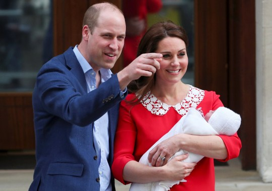 Britain's Catherine, the Duchess of Cambridge and Prince William leave the Lindo Wing of St Mary's Hospital with their new baby boy in London, April 23, 2018. REUTERS/Hannah Mckay