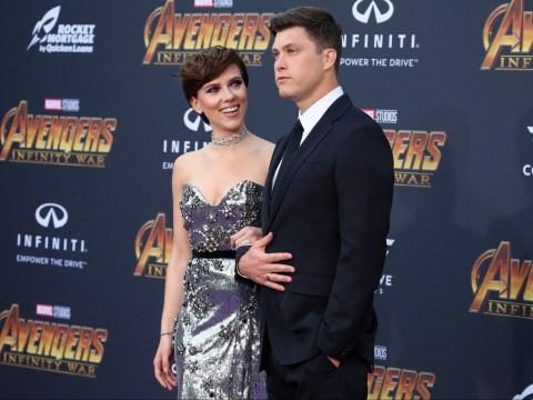 Scarlett Johansson makes red carpet debut with boyfriend Colin Jost at Avengers: Infinity War premiere