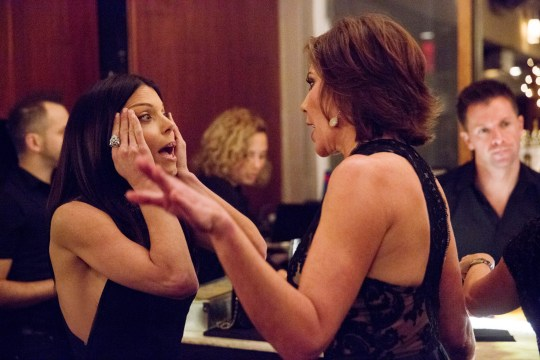 "THE REAL HOUSEWIVES OF NEW YORK CITY -- ""New Beginnings, My Ass"" Episode 719 -- Pictured: (l-r) Bethenny Frankel, LuAnn de Lesseps -- (Photo by: Heidi Gutman/Bravo/NBCU Photo Bank via Getty Images)"
