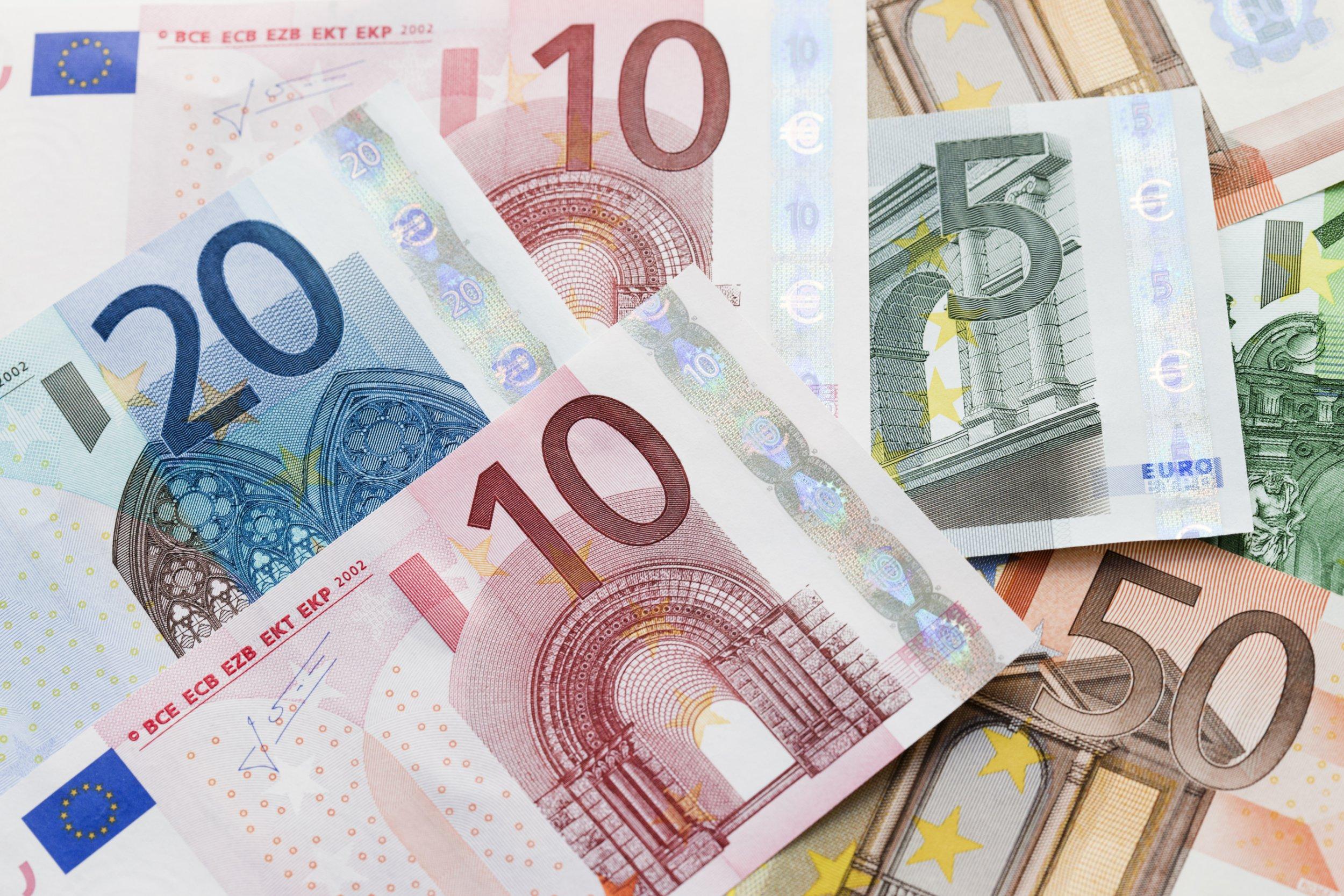 Heap of euro notes