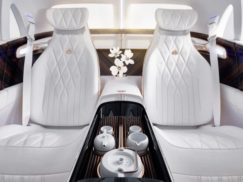 This car comes with a fancy tea station for a cuppa on the go