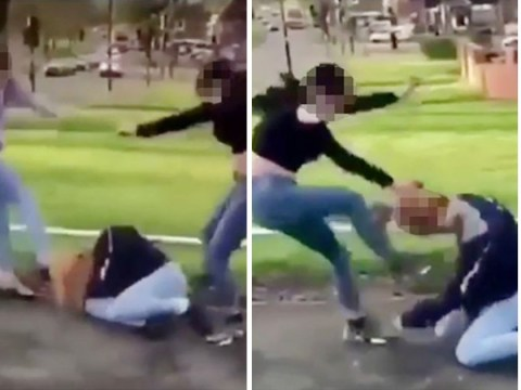 Teenagers arrested after girl is viciously beaten on street and clip is posted online
