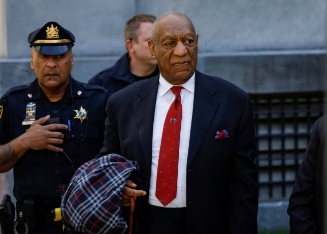 FILE PHOTO: Actor and comedian Bill Cosby exits the Montgomery County Courthouse after a jury convicted him in a sexual assault retrial in Norristown, Pennsylvania, U.S., April 26, 2018. REUTERS/Brendan McDermid/File Photo