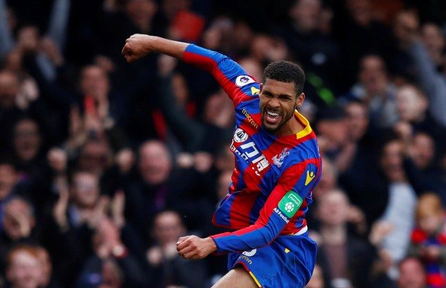 "Soccer Football - Premier League - Crystal Palace v Leicester City - Selhurst Park, London, Britain - April 28, 2018 Crystal Palace's Ruben Loftus-Cheek celebrates scoring their third goal REUTERS/Eddie Keogh EDITORIAL USE ONLY. No use with unauthorized audio, video, data, fixture lists, club/league logos or ""live"" services. Online in-match use limited to 75 images, no video emulation. No use in betting, games or single club/league/player publications. Please contact your account representative for further details."
