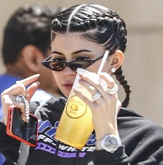 Calabasas, CA - *EXCLUSIVE* Kylie Jenner was seen entering Polacheck's Jewelers with no jewelry on her hands, and she exited with fists full of diamonds, and a new Rolex! The girl knows how to take care of herself! Pictured: Kylie Jenner BACKGRID USA 28 APRIL 2018 BYLINE MUST READ: IXOLA / BACKGRID USA: +1 310 798 9111 / usasales@backgrid.com UK: +44 208 344 2007 / uksales@backgrid.com *UK Clients - Pictures Containing Children Please Pixelate Face Prior To Publication*