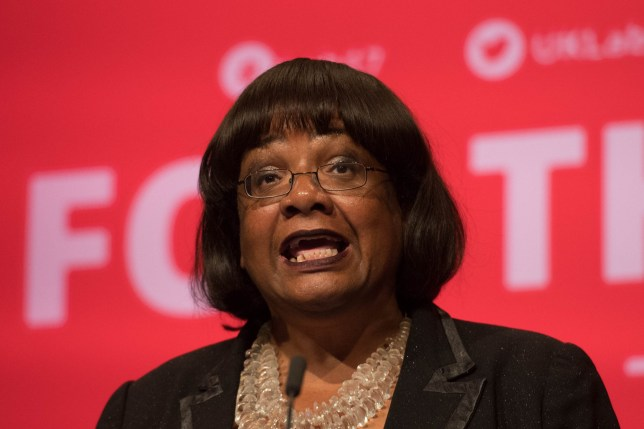 Diane Abbott speaking during the Labour Party annual conference at the Brighton Centre, Brighton.