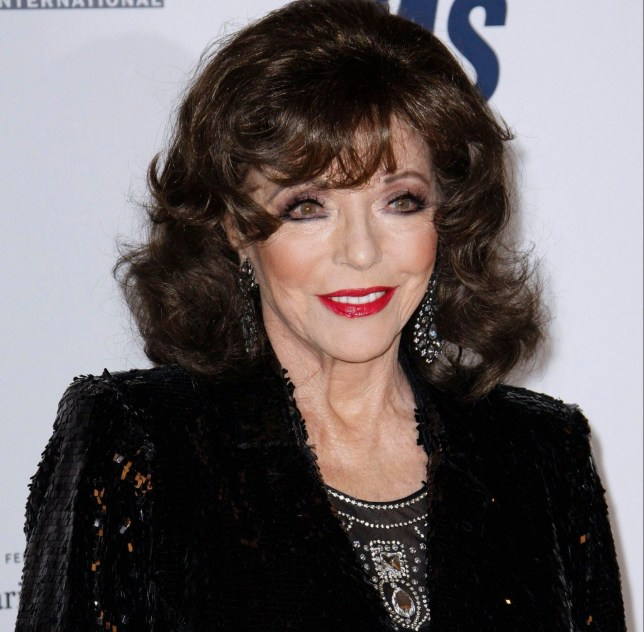 Mandatory Credit: Photo by CraSH/imageSPACE/SHM/REX/Shutterstock (9638497x) Joan Collins 25th Annual Race to Erase MS Gala - Arrivals 20 Apr 2018