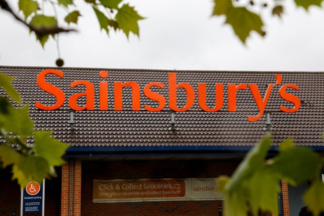 A Sainsbury's store front in London