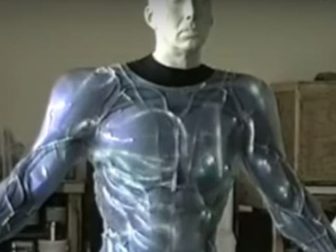 This is what Tim Burton's Superman suit for Nicolas Cage would have looked like