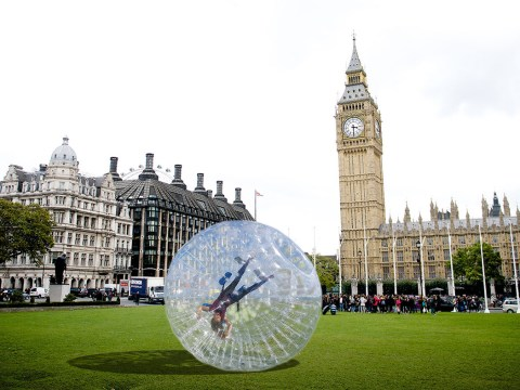 Londoners can zorb to work for free this Friday