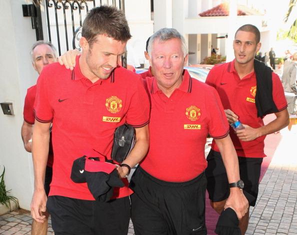 Manchester United captain Michael Carrick pays tribute to Sir Alex Ferguson