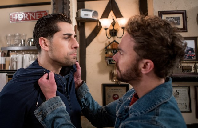 David attacks Josh in Coronation Street