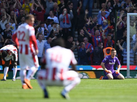 Stoke City relegated from the Premier League after Crystal Palace defeat