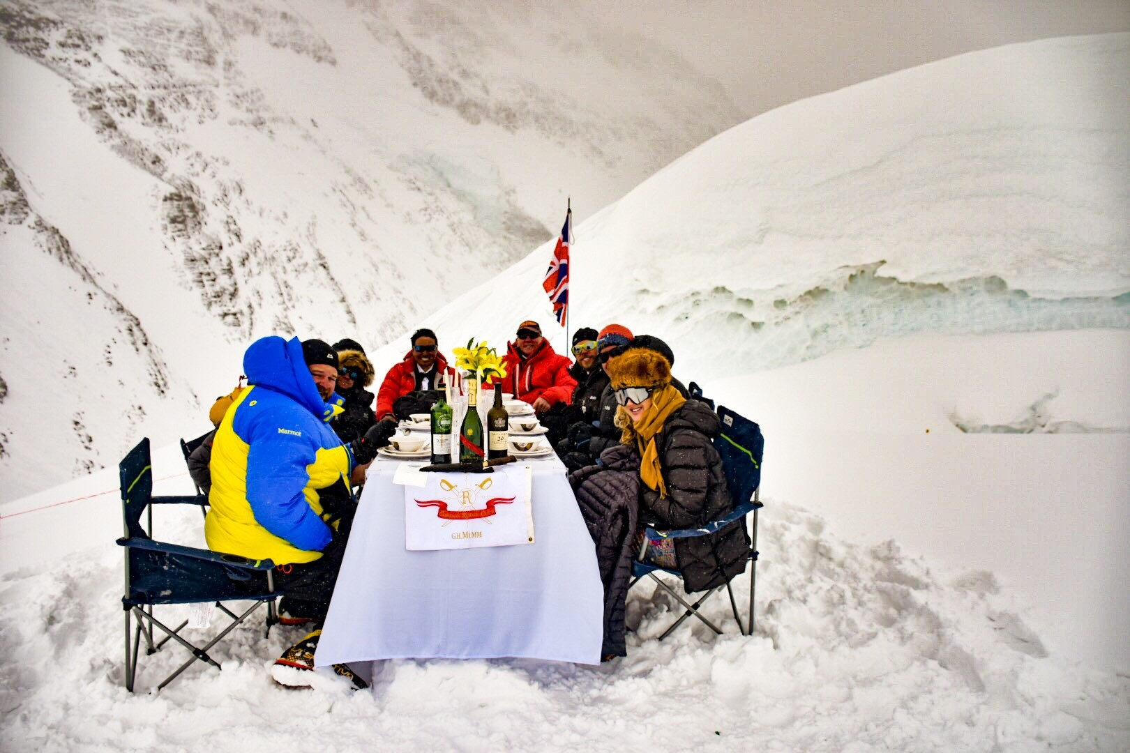 Dinner party on Everest: how we broke the world record to have the world's highest feast