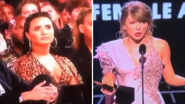 Demi Lovato was not here for Taylor Swift's Billboard Music Awards win