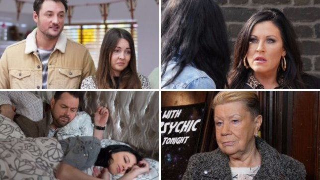 EastEnders pictures for soap spoilers Martin, Stacey, Kat, Hayley, Mick and Mo