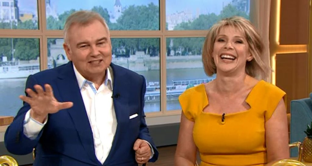 Eamonn Holmes said he couldn't keep his eyes of Ruth Langsford's 'wiggle wiggle' on their wedding day (Picture: ITV)