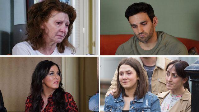 Carmel, Kush, Kat and Bex EastEnders spoilers
