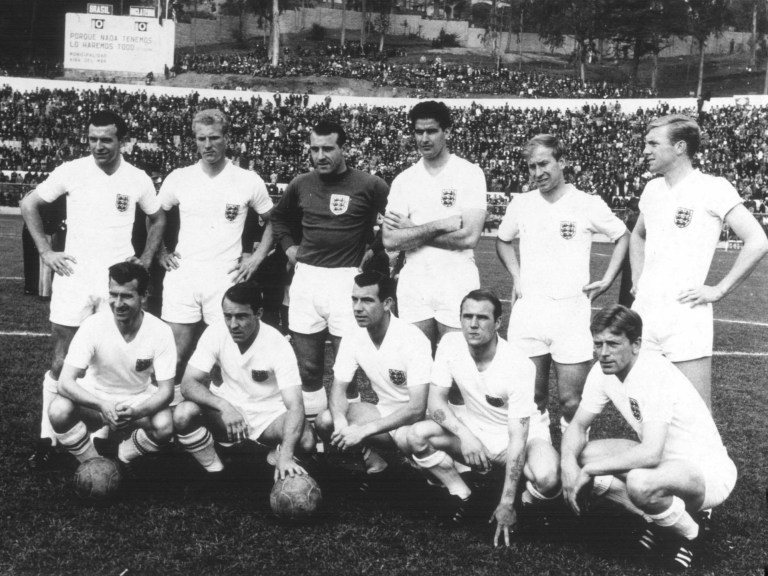 fbb0a0dfdbc Before the 1962 quarter-final defeat to Brazil (Back row L-R) Jimmy  Armfield, ron Flowers, Ron Springett, Maurice Norman, Bobby Charlton and  Bobby Moore, ...