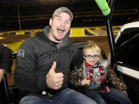 Chris Pratt let his kid say 'you f*****g p***y' and you can't help but laugh