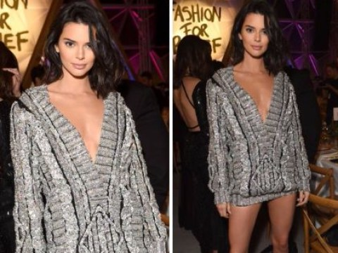Kendall Jenner only needs to wear a sweater to Cannes after freeing the nipple in sheer dress