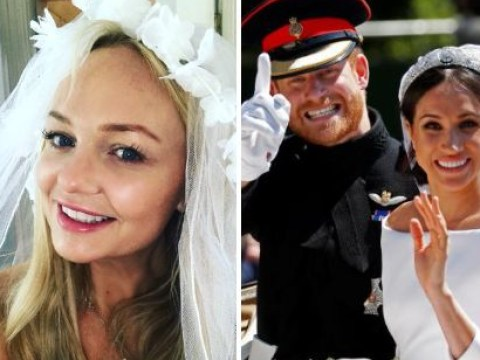 Emma Bunton isn't bothered about Royal Wedding snub as she wears veil for Meghan Markle's big day
