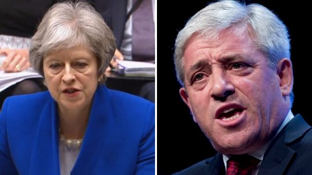 Theresa May calls for investigation into allegations of bullying by Speaker John Bercow