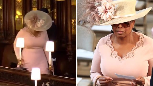 Oprah looks lost as AF struggling to find her seat at royal wedding