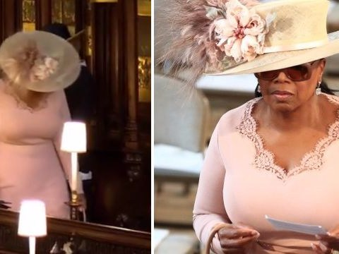 Oprah looks lost as AF struggling to find her seat at royal wedding