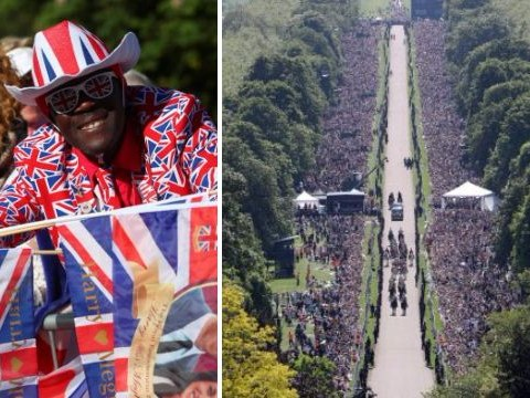 Over 100,000 people cheered on the newlyweds during royal wedding procession