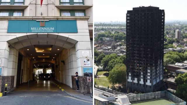 Grenfell survivor collapses at inquiry after video of fire is played without warning