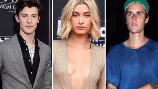 Shawn Mendes, Hailey Baldwin, Justin Bieber (Picture: Getty)