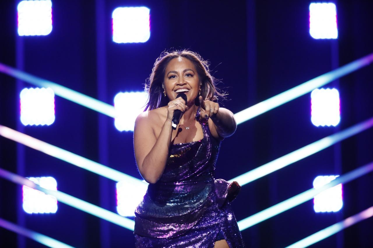 Jessica Mauboy winning love at the Eurovision with Australia