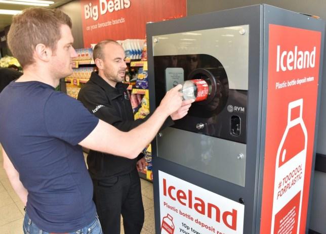 Iceland's reverse vending machine for recycling plastic bottles