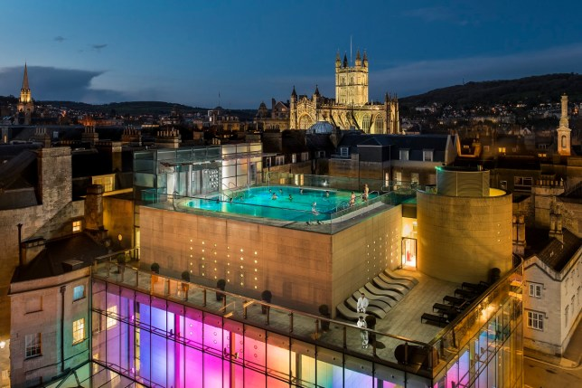The open air rooftop pool at Thermae Bath Spa (Picture: Thermae Bath Spa)