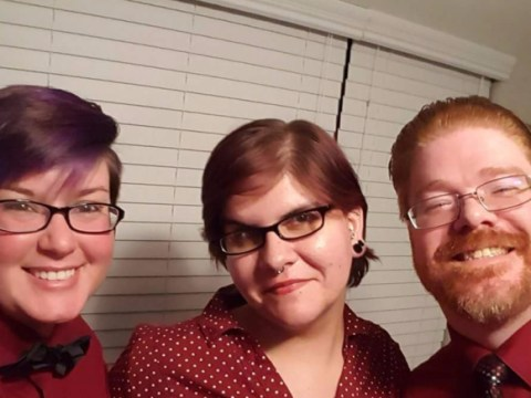 Three people in a polyamorous relationship are expecting their first child
