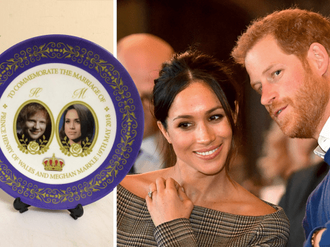 Celebrate the royal wedding with a commemorative plate featuring Meghan Markle… and Ed Sheeran