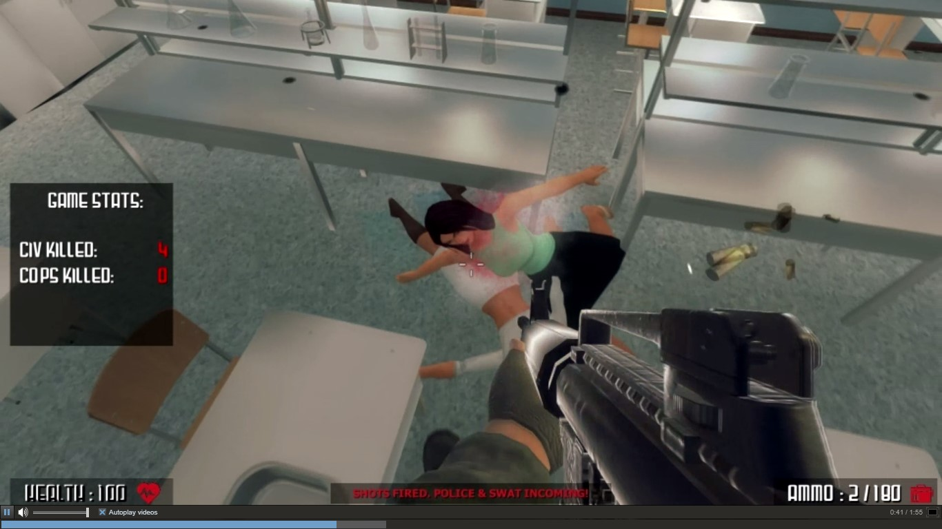 Active Shooter - not worse than nudity, in Valve's eyes