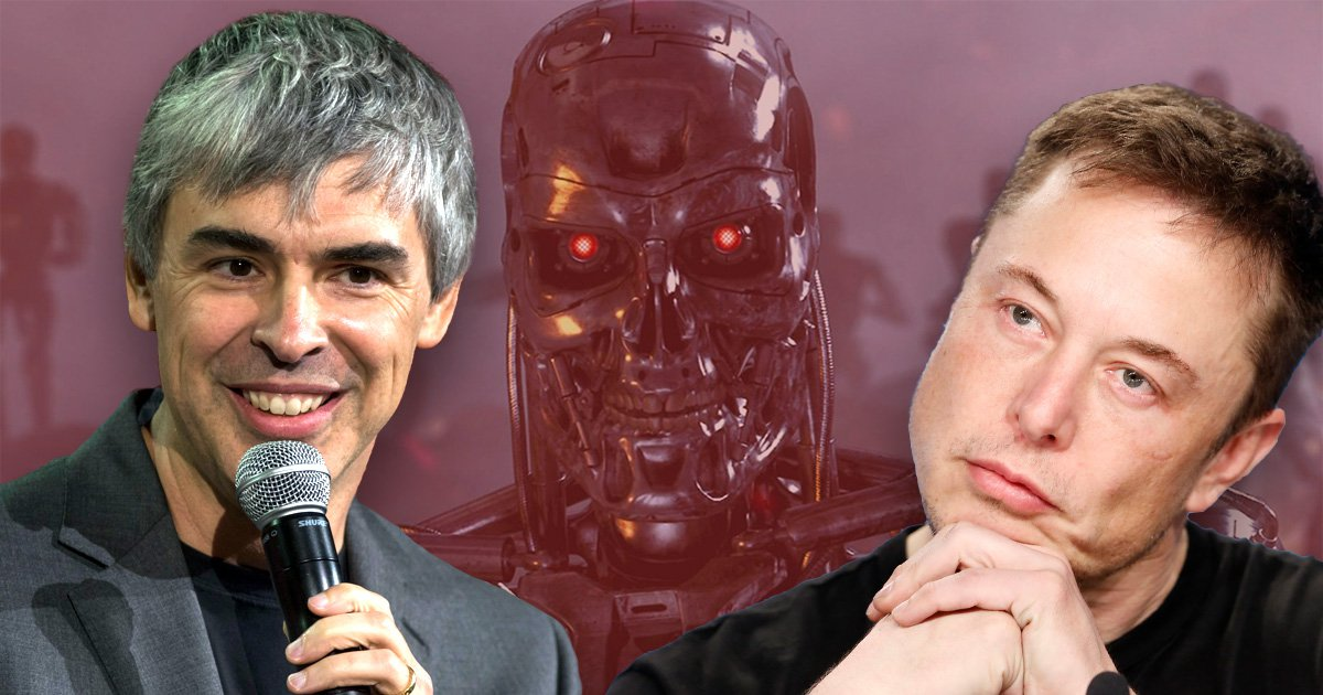 Elon Musk's fears that artificial intelligence will destroy humanity are 'speciesist', said Google founder Larry Page