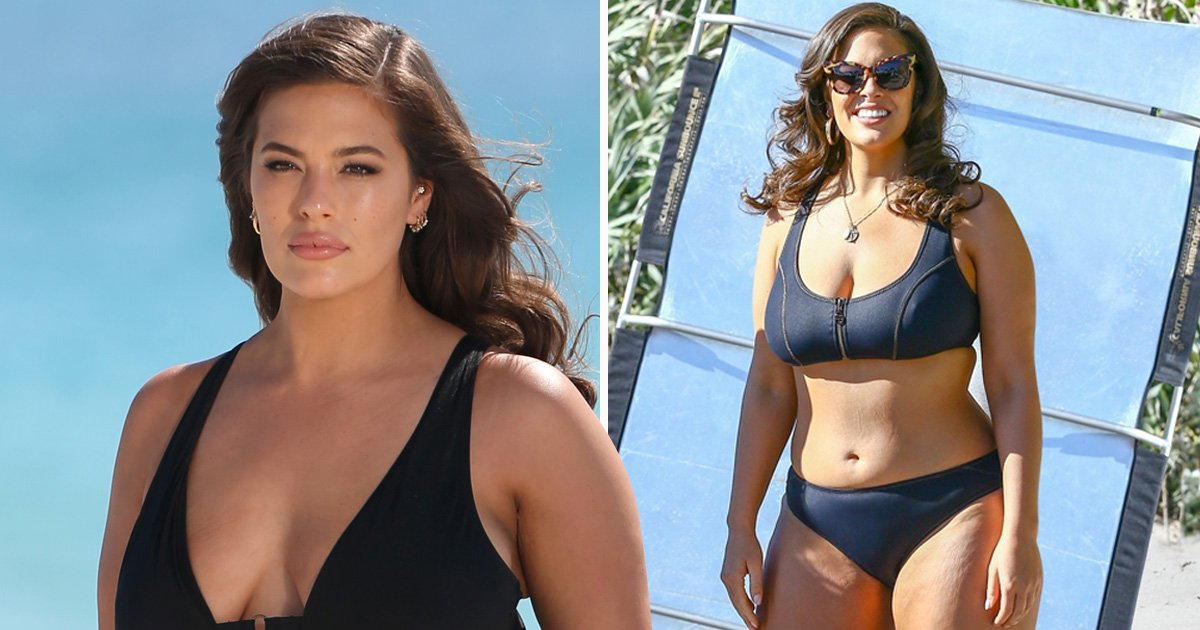 Ashley Graham is 'not afraid of a few lumps, bumps or cellulite' in unedited swimwear campaign