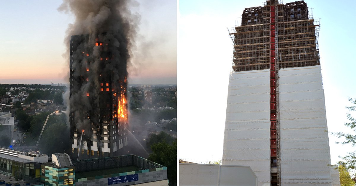 Grenfell Tower covering could be changed because it's 'wrong colour'