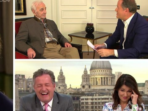 Piers Morgan divides fans as he hilariously shows off singing skills alongside legend Charles Aznavour