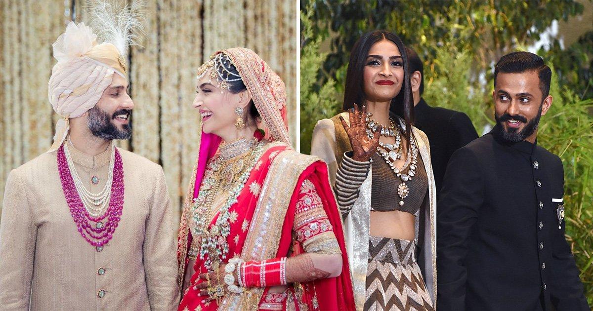 Sonam Kapoor and Anand Ahuja wedding reception pictures including Kareena Kapoor and Katrina Kaif and many more stars