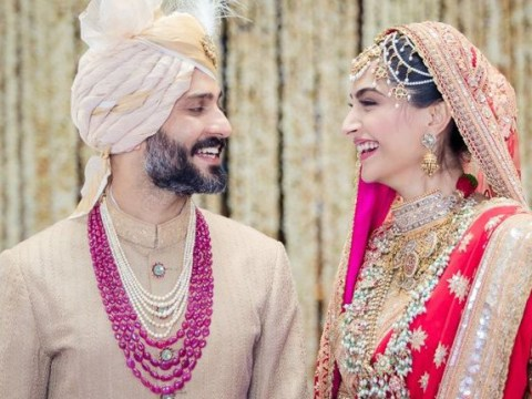 Sonam Kapoor and Anand Ahuja wedding reception pictures including Kareena Kapoor and Katrina Kaif and many more stars