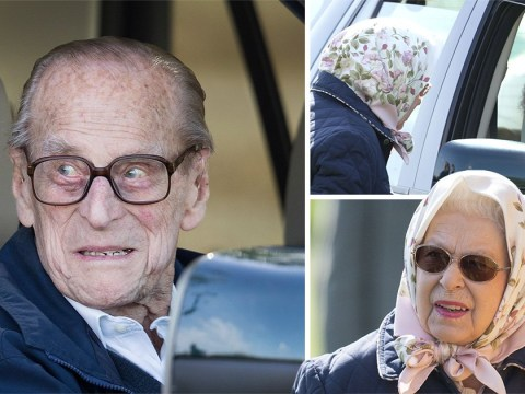 Prince Philip seen for first time since leaving hospital as he joins Queen at horse show