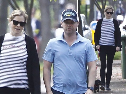 Dec Donnelly's wife Ali Astall gives a glimpse of growing baby bump as couple take a casual stroll